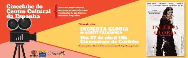 CINECLUBE DO CENTRO CULTURAL DA ESPANHA - ABRIL/2018