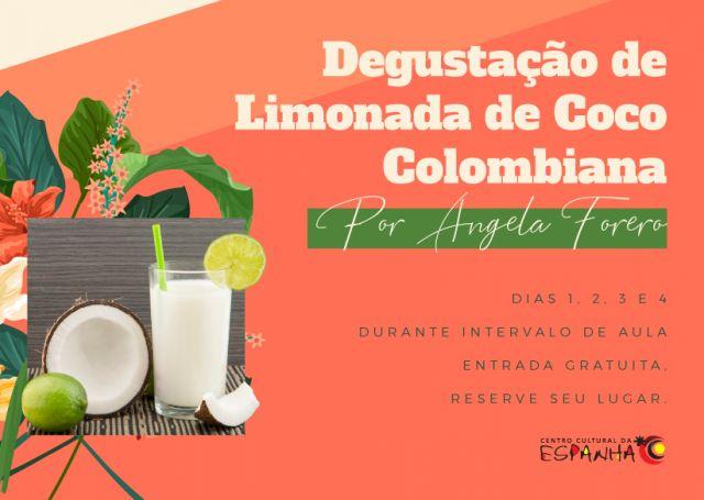 Degustação de Limonada de Coco Colombiana
