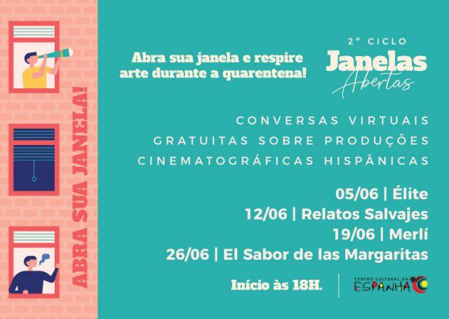 2º Ciclo de Janelas Abertas - Conversas virtuais sobre produções hispânicas