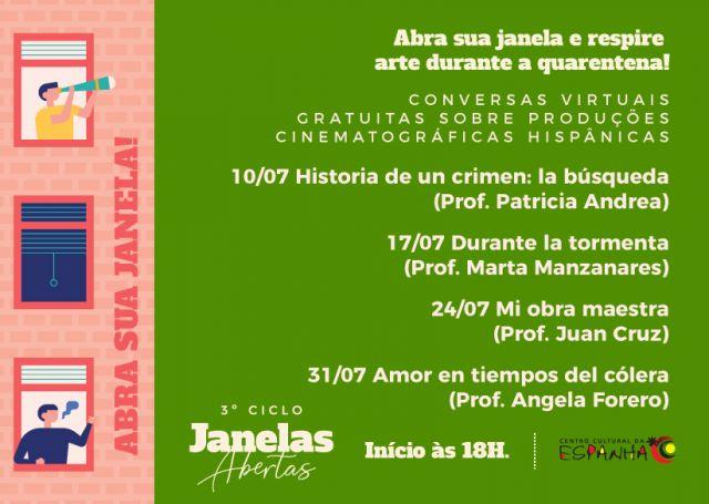 3º Ciclo de Janelas Abertas - Conversas Virtuais sobre filmes/séries